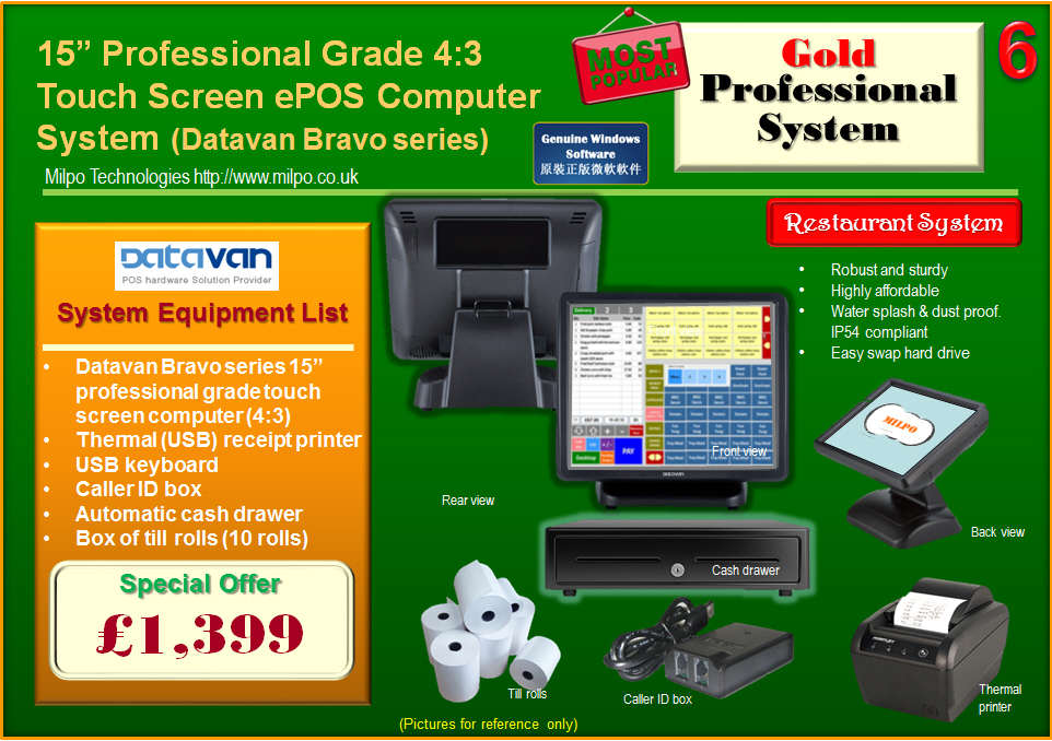 Gold Professional ePOS System for Restaurants (R6)