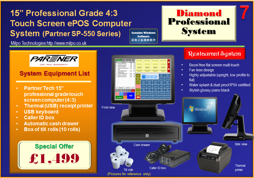 Diamond Professional ePOS System for Restaurants (R7)